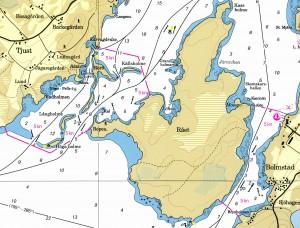 Fartbegränsningar ön Rået och Bolmstads hamn