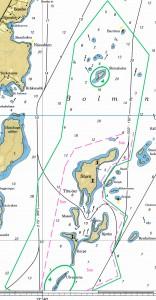 Fartbegränsningar norra Tiraöar